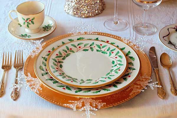 mesa de navidad con feng shui