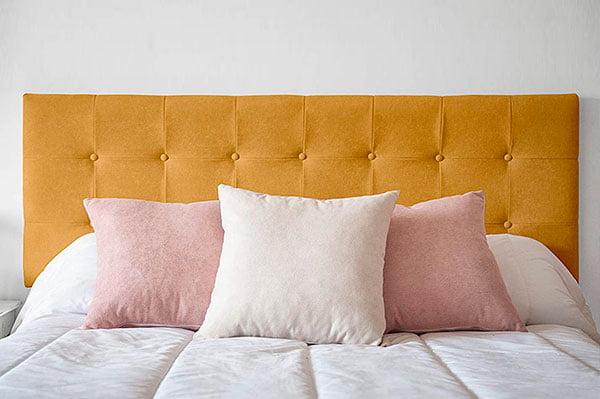 Cabecero de cama con Capitoné