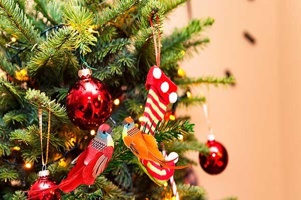 Aves arbol Navidad