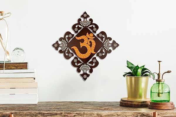Símbolo Om en la decoración